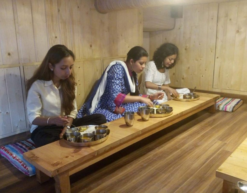 Himachali dham serve in Restaurant